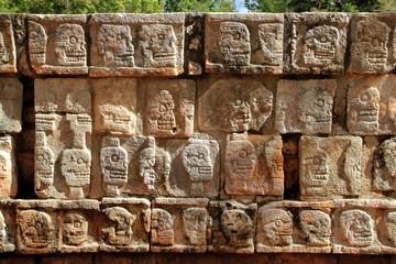 Chichen Itza Tzompantli Wall of Skulls Mayan Mexico