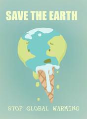 riscaldamento globale, rappresentazione scherzosa del globo