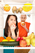 Healthy food in fridge