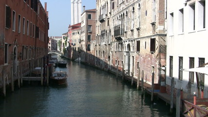 Typical Canal in Venice, Italy