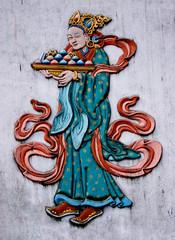 Buddhist stucco molding