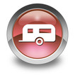 "Red Glossy Pictogram ""Camping Trailer"""