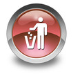 "Red Glossy Pictogram ""Litter Container"""