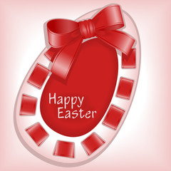 Happy Easter 4. machine stitching. Postcard vector