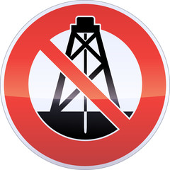 Drilling Banning Sign