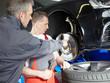 Master mechanic explaining repair and maintenance costs