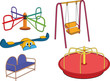 The complete set a children's swing. Cartoon