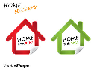 Real estate design elements,house for sale and rent stickers