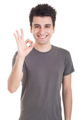 Man with ok sign