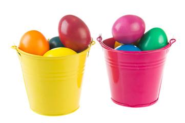 buckets easter eggs