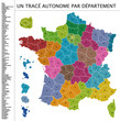 Carte de France (un vecteur par département)