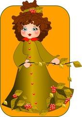 dziecko. ilustracja przedstawiająca małą dziewczynkę.