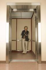 Woman In An Elevator