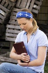 Female Missionary With Bible