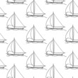 seamless wallpaper with a sailboat