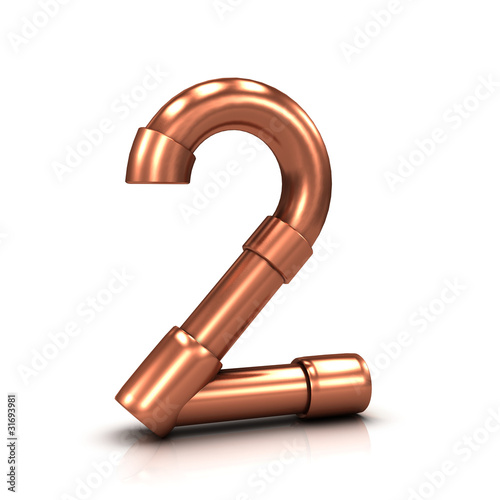 3d Copper tubing number - 2