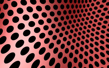 Red Perforated Screen