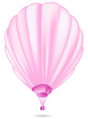 soft pink balloon set isolated on white background