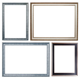 Set of few silver frames