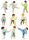cartoon Karate Player icon