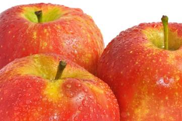 Manzanas rojas frescas.
