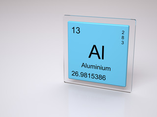 Aluminium - symbol Al - chemical element of the periodic table