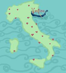 mappa italiana, venezia