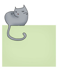 gatto carta da lettere