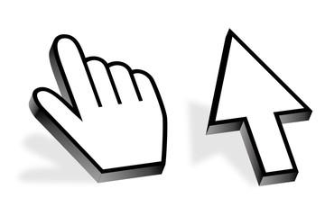 Computermaus Maus Hand Finger Pfeil Zeiger Cursor zeigen