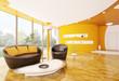Modern Wohnzimmer interior design 3d render