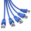 Blue network cables - in a bunch