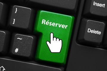 Touche RESERVER (acheter commander réservation en ligne bouton)
