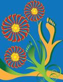 Foot Fetish Floral poster