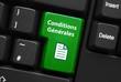 Touche CONDITIONS GENERALES (utilisation vente termes bouton)