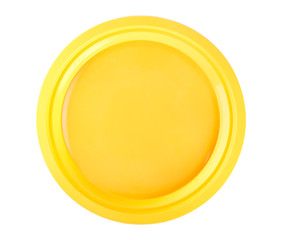 Yellow disposable plate