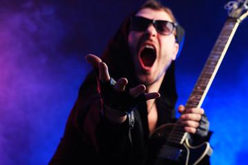 shouting singer