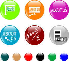button about us colored icon