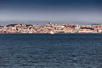 Landscape of fhe city of Lisbon.