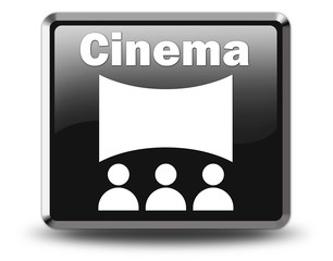 "Glossy Black Button ""Cinema"""