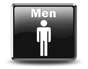 "Glossy Black Button ""Men"""