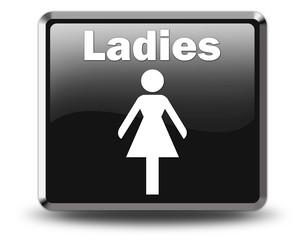 "Glossy Black Button ""Ladies"""