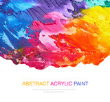 Abstract acrylic painted background