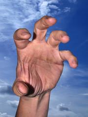 Grabbing hand
