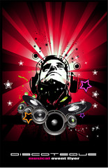 abstract music background for discoteque flyers