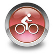 "Red Glossy Pictogram ""Bicycle Symbol / Bicycle Trail"""