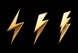 Gold icon lightning