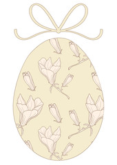 egg with bow