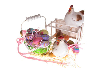 easter-eggs and chickens
