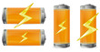 orange battery with power sign