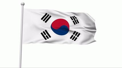 Fahne Südkorea NTSC